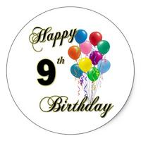 happy_9th_birthday_gifts_and_birthday_apparel_sticker-p217864685038855470q0ou_400